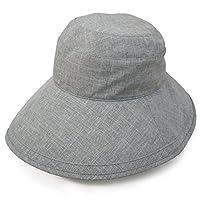 Rose Blanc(ロサブラン) 100%完全遮光 帽子 プレーンハット13cm (通気性タイプ) (ダンガリーグレー)