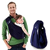 ベビースリング 抱っこひも 赤ちゃんを包み込むように 赤ちゃんも安心 パパとママの顔が見える ゆりかごキャリー 安心してすぐに眠る 対象0~2歳 ネイビー