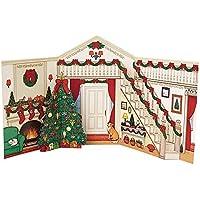 サンリオ クリスマスカード 洋風 ポップアップ 型抜き家玄関 S7168