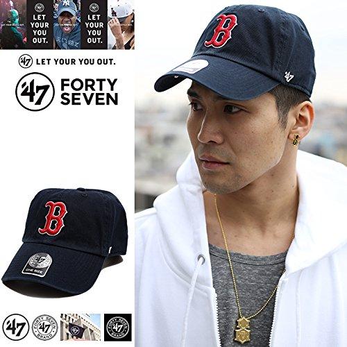 【B-RGW02GWS-H】≪RED SOX HOME 47BRAND CLEAN UP NAVY≫ フォーティーセブン FORTY SEVEN 帽子 ベースボール ボールキャップ MLB ボストン レッドソックス つば カーブ 正規品