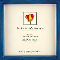 オーシャンブルー木製Stain 12x 12シャドウボックスfor your印刷またはCollectibles by Dennis Daniels ®–12x 12