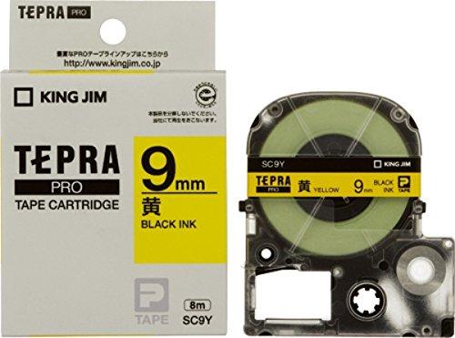 キングジム テープカートリッジ テプラPRO 9mm SC9Y 黄