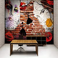 Lixiaoer 寝室の壁のリビングルームのための壁紙ヴィンテージレトロトレンディガールフォト壁紙壁画-120X100Cm