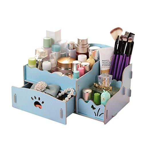 DaoJianリムーバブル木製DIY化粧品収納ボックスデスクトップジュエリーボックスメイクオーガナイザー引き出しオフィス