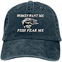 XKAWPC Women Want Me Fish Fear Me Classic Baseball Cap Trucker Hat Adult Unisex Adjustable Dad Hat