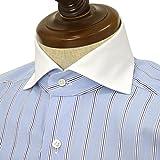 BARBA【バルバ】ドレスシャツ BRUNO I1U262U02303R コットン クレリック ストライプ ブルー×ホワイト