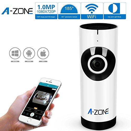 A-ZONE 新しいワイヤレスカメラ 100万画素 ベビーケアモニター WIFI監視カメラ ナイトビジョンビデオ 横と縦 Play & Plug