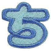 サンヒット ワッペン ち ブルー ABS3-17