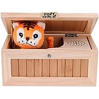 Greensun TM電子木製Useless Box Lovely Tigerタッチ非表示Roarサウンド20モード面白いデスクトップおもちゃ子供大人stress-reduction Toy