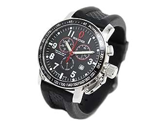 (ワンチャー) WANCHER 腕時計 クロノグラフ タキメーターベゼル搭載 クオーツ デイ&デイト WAWT-TACHY8813
