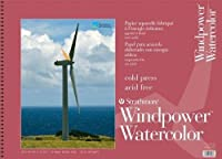 Strathmore ST640-18 18 in. x 24 in. Windpower Wire Bound Watercolor Pad - 15 Sheets