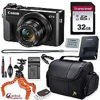 Canon PowerShot G7 X Mark II デジタルカメラ (ブラック) + プライムポイント&シュート トラベルアクセサリーキット