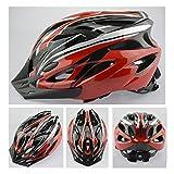 軽量ヘルメット アジャスターサイズ 調整可能 自転車 大人用ヘルメット (赤)