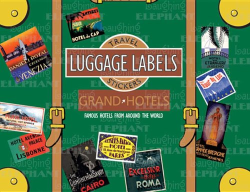 Grand Hotels Luggage Labels Travel Stickers