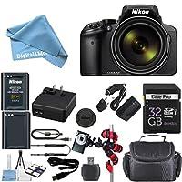 Nikon Coolpix p900Wi - Fi 83x Zoomデジタルカメラ+予備交換バッテリー+元アクセサリ+ 32GBメモリカード+ Spider柔軟な三脚+デラックス携帯ケース+ 12pcバンドル
