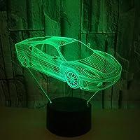 導かれた卓上スタンドの装飾の夜ライト3Dランプ車の照明ギフト創造的なUsb 7色の雰囲気の記念品Dimmableの黒い座席多彩:タッチスイッチ