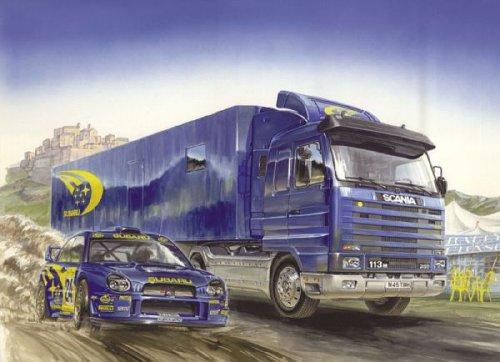 イタレリ 3812 1/24 スバルレーシングチームトランスポーター