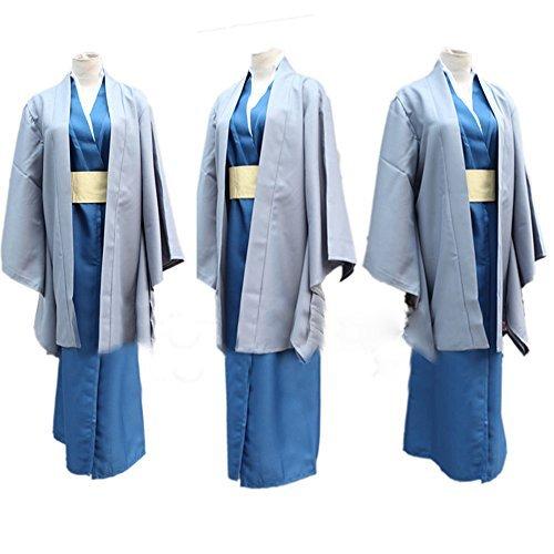 【Guirui】銀魂(ぎんこん) 桂小太郎(かつら こたろう) コスプレ衣装 着物 和服 ハロウイン...