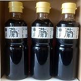 醤油 高級かつお節醤油 蘭 200ml×3本 ギフト 新潟 土産 出汁醤油