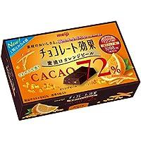 明治 チョコレート効果カカオ72% 蜜漬けオレンジピール 47g×5箱