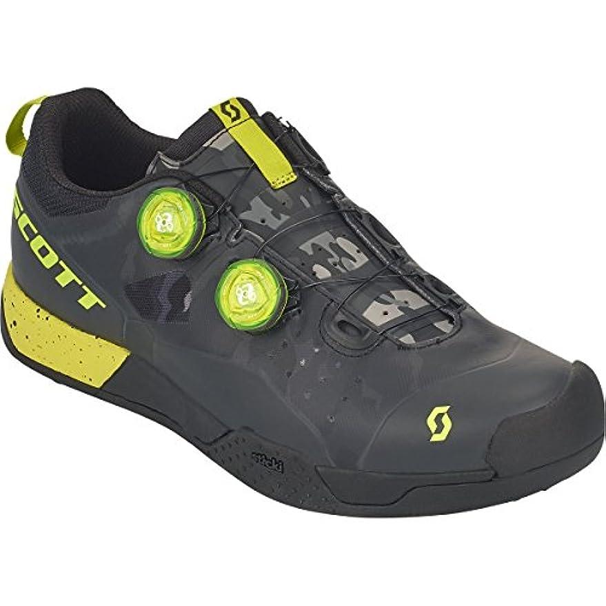 バーマド本体ボタンスコット?MTB AR BoaクリップShoe – Men 's Black/Sulphur Yellow、45.0