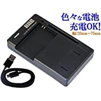 ANE-USB-01B 充電器 バッテリー充電器 パナソニック Panasonic DMW-BCF10:機種 LUMIX DMC-FX700, DMC-FX70, DMC-FX40, DMC-FX66, DMC-FX60, DMC-FX550, DMC-FS25, DMC-FS10, DMC-FS7, DMC-FS6, DMC-FT4, DMC-FT3, DMC-FT2, DMC-FT1, DMC-FP8