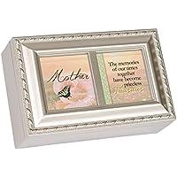 Cottage Garden母Memoriesシャンパンシルバー小柄音楽ボックス/ジュエリーボックスPlays Wind Beneath Wings