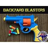 Realistic 1:1 Scale .45 ACP Revolver Prop - Rubber Bullet Pistol Toy Gun - British Bull-Dog Revolver Backyard Blasters