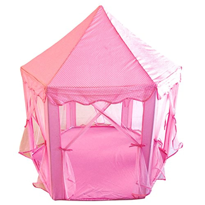Poco DivoロイヤルGazeboプリンセス城Girlsアウトドアパティオピンクインドア再生テントHexagon Toy House