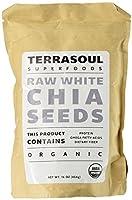 Terrasoul Superfoods オーガニック ホワイトチアシード 454g スーパーフード [並行輸入品]