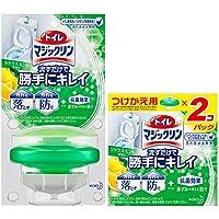 【まとめ買い】トイレマジックリン トイレ用洗剤 流すだけで勝手にキレイ シトラスミント香り 本体+付替用