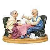 JHP 老夫婦 人形置物 夫婦円満 長寿のお祝い 敬老の日 プレゼント 樹脂製 彫像 工芸品 記念品 父の日 母の日 誕生日 いい夫婦の日 結婚祝い 結婚記念日 贈り物