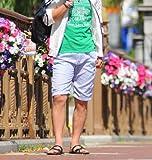 ショートパンツ メンズ ベルト付き ストライプ ショーツ ハーフパンツ 【w104】 スペード画像③