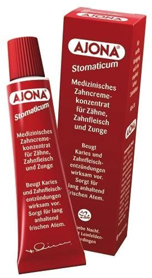 耳に賛成作者Ajona 濃縮歯磨き粉 Stomaticum Toothpaste 25ml(12x 25ml)-12Pack [並行輸入品]