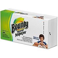 Bountyキルト風ナプキン。Single Ply。12インチby 12インチ。 ホワイト