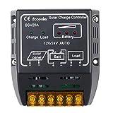 Docooler 20A 12V / 24V ソーラー充電コントローラ ソーラーパネルバッテリレギュレータ 安全保護