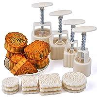 ResulzonムーンケーキFodantギフトDIYムーンケーキ型で12ピースモードパターン用4セット
