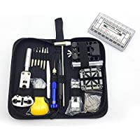 OZSTOCK® 380Pcs Watch Repair Tool Kit Watchmaker Back Case Opener Remover Spring Pin Bars