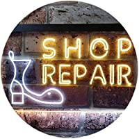 Shop Repair Shop Dual LED看板 ネオンプレート サイン 標識 White & Yellow 400 x 300 mm st6s43-i0233-wy