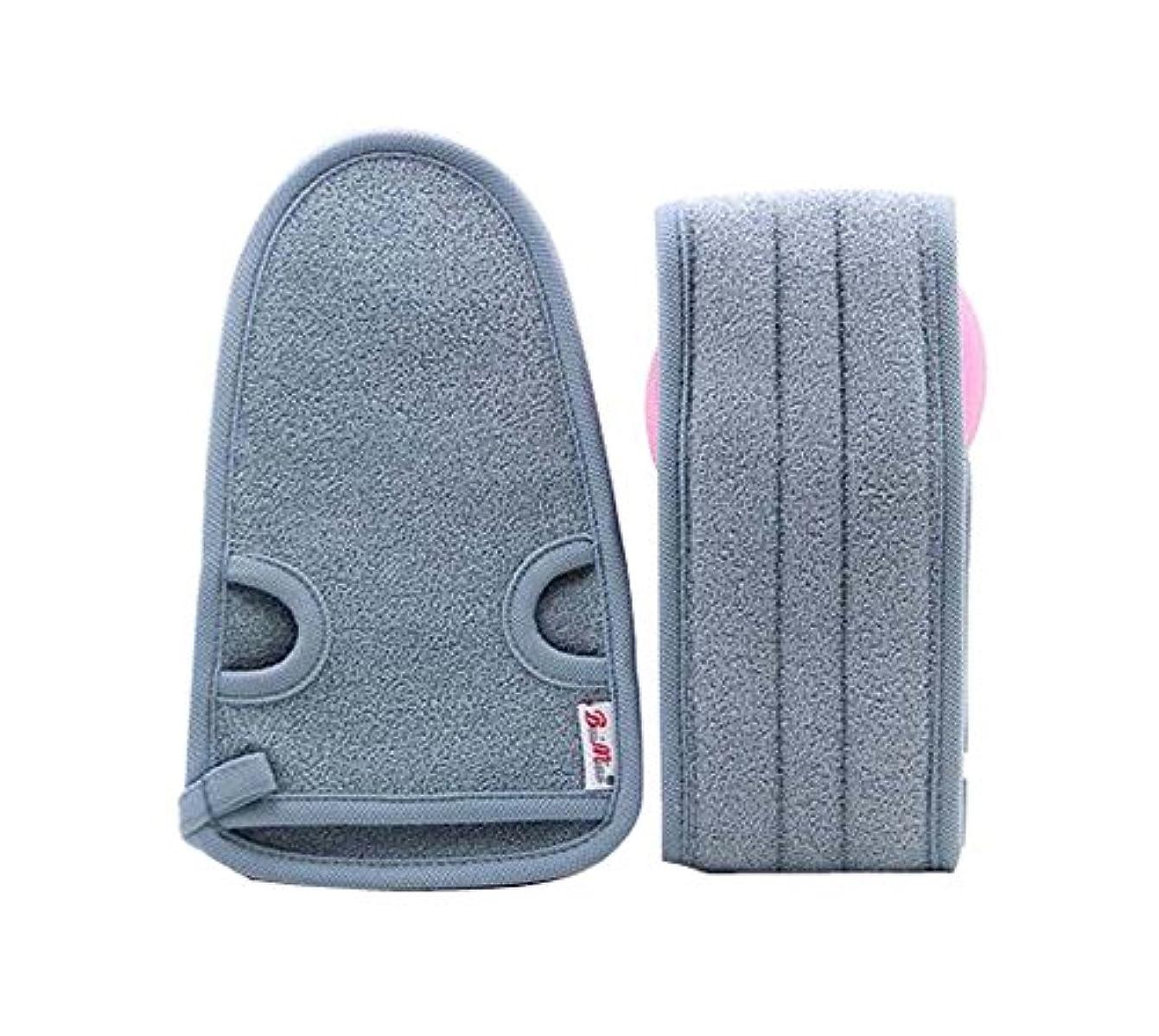 イースター適応的直立男性のための実用的な柔らかい浴室の手袋の角質除去、2つの灰色