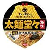 日清 太麺堂々 極味濃厚魚介豚骨醤油 136g×12個