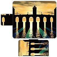 AQUOS R SH-03J ☆ ケース・カバー 完全受注生産 完全国内印刷 スライド式スマホケース 手帳型 写真 夕日に浮かぶ橋 アクオス フォン ホン ゼータ セリエ スマホカバー オリジナルデザイン プリント 日本製