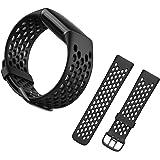 【YXHH】 Fitbit Charge5 バンド, スポーツ交換バンドストラップ 耐衝撃 防汗 適応 Fitbit Charge5(black )
