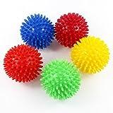 アウトドア用品 KaLaiXing® スパイキー・マッサージ・ボール、ハード・ストレス・ボール8.0センチフィットネス・スポーツ・エクササイズ用。ヨガ、ジム、フィットネス、スポーツ--5 color
