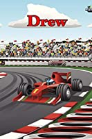 "Drew: Racecar Blood Sugar Diet Diary Journal log book 120 pages 6""x9"""