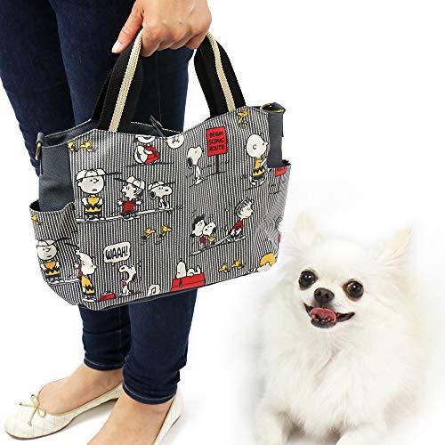 NEW ペットパラダイス スヌーピー ファミリー柄 お散歩バッグ|犬 お散歩バッグ 犬 お散歩バック 犬用 お散歩バッグ お散歩バッグ ショルダー|