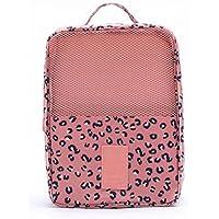 旅行靴ストレージバッグポータブル靴バッグ美しい実用的シューズボックス、ピンク
