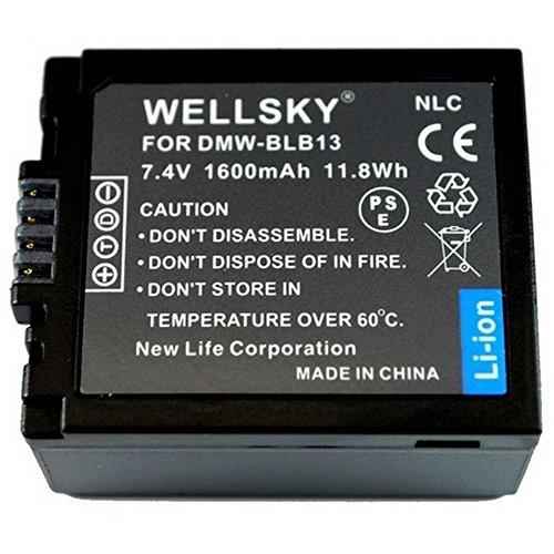 [WELLSKY] Panasonic パナソニック DMW-BLB13 互換バッテリー [ 純正充電器で充電可能 残量表示可能 純正品と同じよう使用可能 ] LUMIX ルミックス DMC-GH1 / DMC-G1 / DMC-GF1 / DMC-G2 / DMC-G10