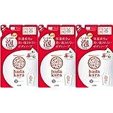 【3個セット】hadakara(ハダカラ)ボディソープ 泡で出てくるタイプ フローラルブーケの香り つめかえ用 440ml