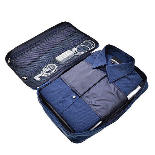 CVLIFE シワにならない ワイシャツケース 出張 旅行便利グッズ 防水 コンパクト 収納ケース 衣類
